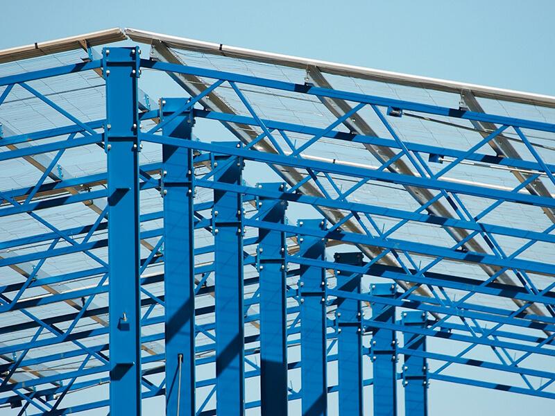 Development and construction info – construction frame blue